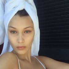 bare faced celebs the best no makeup selfies on insram bella hadid from instyle