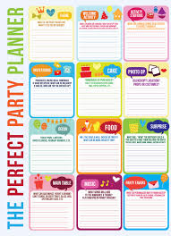 Free Party Planner Template Free Party Planner Checklist