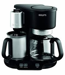 It also comes with a stand so you can store it next to your coffee maker. Buy Krups Km310850 Latteccino 2 In 1 Coffee Maker Machine With Professional Milk Frother 8 Cup Black Online At Low Prices In India Amazon In