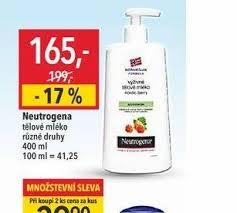 Akce Nautrogena Tělové Mléko Za 16500 Kč Globus 10 1 16 1