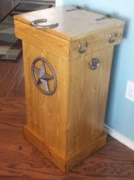 ... Appealing Wooden Kitchen Trash Bin Double Wooden Trash Bin For Kitchen  Brown Woods Wood ...