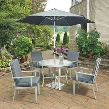 7 piece round outdoor dining table