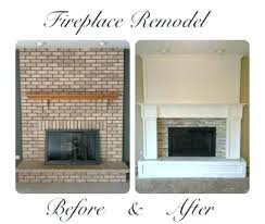 fireplace renovation ideas before after brick