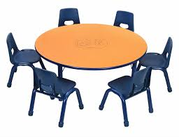 round table table 48 x 15 24 inches wooden top height adule legs multiple color options scratchproof top with etching
