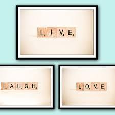 scrabble wall art live laugh love word art wall words wall de
