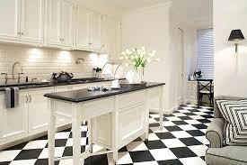 black and white kitchen floor black and white reign supreme in this kitchen with checkerboard tiles
