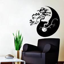 Tree <b>Bonsai Wall</b> Decal Yin Yang Vinyl Sticker Chinese Tree <b>Home</b> ...
