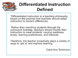 Differentiated Instruction Powerpoint For Pd Workshop