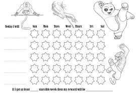 Black And White Reward Chart Behavior Charts That Can Be Colored