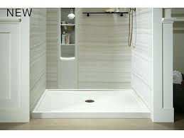 showers kohler salient shower pan fabulous at k receptor with right mesmerizing on rely base x