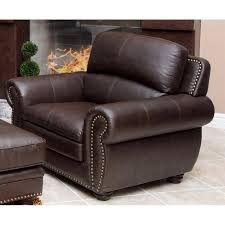 abbyson living harrison 4 piece leather sofa set in brown jc