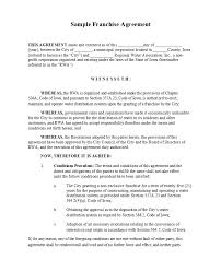 49 Editable Franchise Agreement Templates Contracts