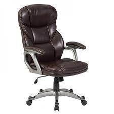 belleze deluxe high back office chair executive task ergonomic computer desk pu leather mocha