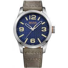 hugo boss mens leather watch 1513352 hugo boss watches hugo boss mens leather watch 1513352