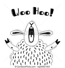 Sheep 面白い デザイン かわいい 歓迎 イラスト 叫び 懇願しなさい Hoo Animal ポスター Avatars うれしい