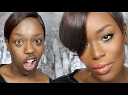 amazing transformation dark skin make up tutorial my face is beat like megan good you got mad skillz go head on witcho bad self