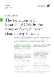 The Functions And Location Of Csr In The Companys