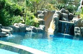 swimming pools with slides and waterfalls. Brilliant Pools Full Size Of Waterfalls For Pools Waterfall Swimming Pool Photos Excellent  With Slides And Slide W S