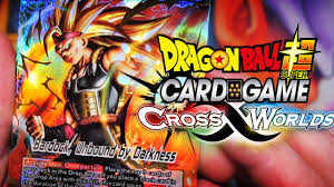 dragon ball super card game set 3 cross worlds starter deck preview pack opening