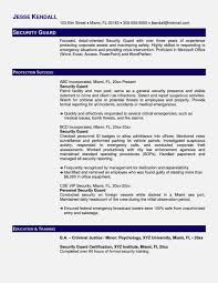 Lovely Free Sample Security Guard Resume Images Professional