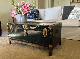 travel trunk coffee table old travel trunk vintage steamer trunk coffee table old suitcase banded trunk