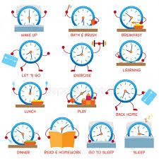 Kids Daily Routine Chart Morning Routine Chart Stock Images Royalty Free Routine
