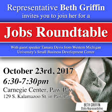 those unable to attend the event or who have questions can contact rep griffin by phone at 517 373 0839 or via email at bethgriffin house mi gov