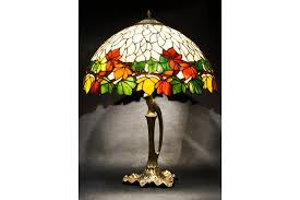 stained glass lamp bedside lamp stained glass light table lamp chestnut lamp