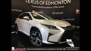 2017 white on parchment lexus rx 350 awd luxury review downtown edmonton alberta you