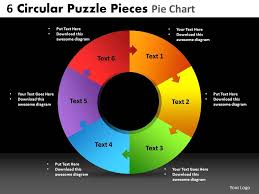 6 Piece Pie Chart Template 6 Circular Puzzle Pieces Pie Chart Powerpoint Slides And Ppt