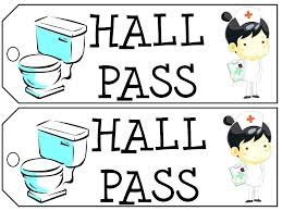 Hall Passes For School Bathroom Passes Template Sign In Sheet Templates Free Word Excel