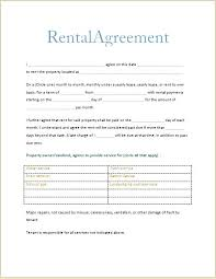 House Rent Contracts Contract Sample Commercial Rental Free Lease ...