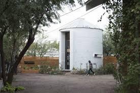 Grain Bin Home Scrappy Architect Built Himself The Coziest Grain Silo Home Curbed
