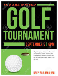 Golf Invitation Template A Flyer For A Golf Tournament Invitation Template Royalty Free