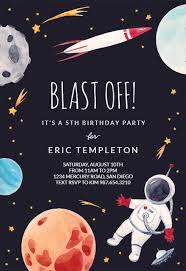 Space Party Invitation Outer Space Birthday Invitation Template Free