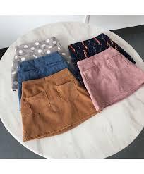 Girls Skirt Summer Children Pocket Skirt Color Corduroy Korean Style Little Girls Clothing Kid Skirts