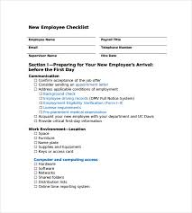 New Hire Checklist Sample 13 Documents In Pdf
