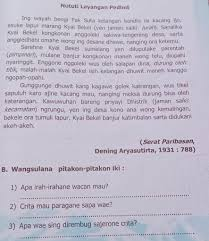 Mempelajari materi bahasa jawa tentang gladhen wulangan 6; Gladhenwulangan 3kanga Semaken Teks Wacan Ngisor Iki Kanthi Setiti Nututi Layangan Brainly Co Id