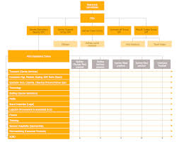 Organisational Flow Chart Excel Matrix Organization