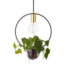 Flower Pot Light Bloomingville Flowerpot Pendant Lamp Oval Metal Gold