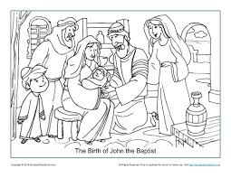 He boldly proclaimed god's message to both the common man and the hypocritical pharisees of his day. The Birth Of John The Baptist Coloring Page Children S Bible Activities Sunday School Activities For Kids Childrens Bible Activities Sunday School Activities Bible Activities