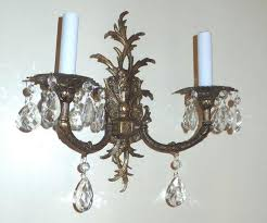 chandelier sconce vintage brass sconce with crystals made in by chandelier sconce shades wall sconces chandelier chandelier sconce crystal