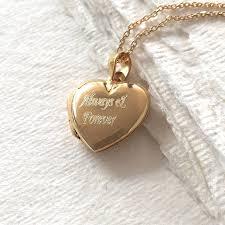original personalised gold heart locket necklace