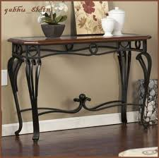 details about glass top contemporary wood metal console accent sofa table hallway display