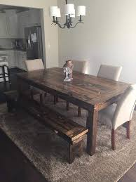 rustic wood furniture design ideas farmhouse table with bench farm modern chairs