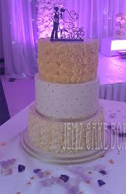 3 Tier Buttercream Roses Wedding Cake From 450