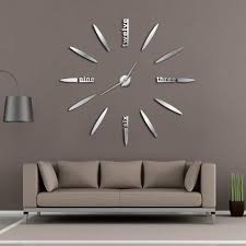 frameless diy wall clock 3d mirror wall clock large mute stickers for living room bedroom home decorations big time regulator wall clock retro clock from