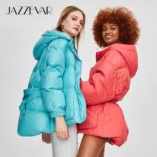 New Designer Coats Us 63 2 60 Off Jazzevar 2019 Winter New Fashion Street Designer Brand Womens White Duck Down Jacket Pretty Girls Outerwear Coat With Belt In Down