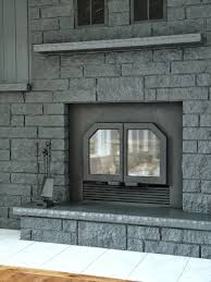 Gray Brick Fireplace How To Easily Paint A Stone Fireplace Charcoal Grey Fireplace