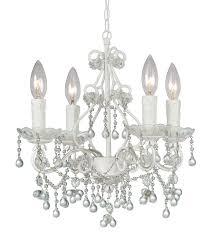crystorama 4514 ww clear paris market 4 light clear crystal white mini chandelier